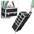 Songmics alu trolley Kosmetikkoffer Handgepäck Box case croco 7 in 1 schwarz JHZ06B - 2